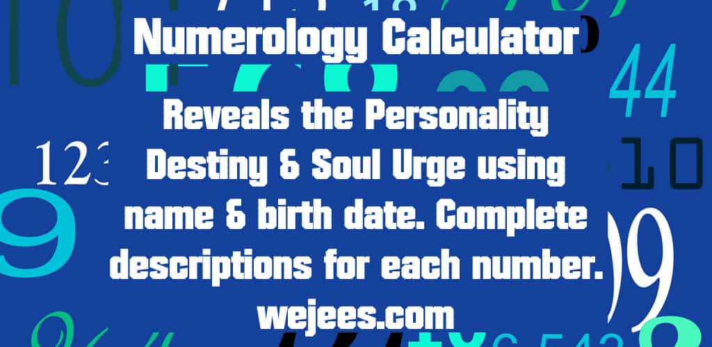 Wejee's Numerology Calculator Free Android App